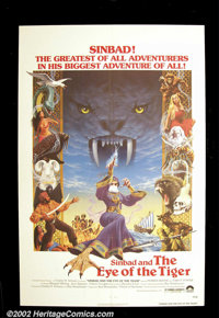 """Sinbad and the Eye of the Tiger (Columbia, 1977). One Sheet (27""""X41"""") This British made sequel to """"The Go..."""