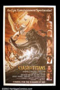 "Movie Posters:Fantasy, Clash of the Titans (MGM, 1981). One Sheet (27""X41"") This advance poster shows the all-star cast of this tale based on Greek..."