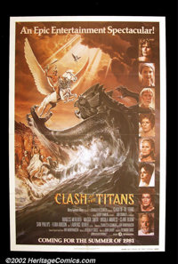 "Clash of the Titans (MGM, 1981). One Sheet (27""X41"") This advance poster shows the all-star cast of this tale..."