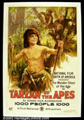"""Movie Posters:Action, Tarzan of the Apes (First National 1918) One Sheet (27"""" X41"""") Following the success of the appearance of the story """"Tarzan o..."""