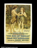"Movie Posters:Action, The Son of Tarzan- Episode 6 ""The Killer's Mate"" (National Film, 1921). One Sheet (27""X 41"") Released in 1921, this was the ..."