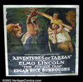 "Movie Posters:Action, Adventures of Tarzan "" The Jungle Trap"" (Numa 1921) Six Sheet (81"" X 81"") Elmo Lincoln, the original Tarzan from the 1918 f..."