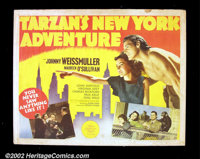 """Tarzan's New York Adventure (MGM 1942)(2) Half Sheets (22""""X28"""") Offered here are the two half sheets released..."""