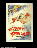 "Movie Posters:Animated, The Flying Jalopy, The (RKO 1943) One Sheet (27""X 41"") VintageDisney short subject poster for an early Donald Duck title. V..."