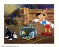 "Movie Posters:Animated, Pinocchio (RKO 1940) Deluxe Lobby Card (13"" X15"") Nice shot ofPinocchio talking to Jiminy Cricket as Figaro watches. Very F..."