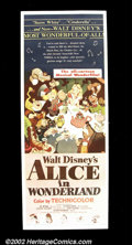 """Movie Posters:Animated, Alice in Wonderland (RKO, 1951). Insert (14"""" X 36""""). This was oneof the few posters made for Disney's animated classic to f..."""