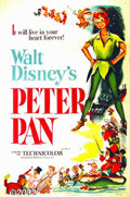 "Movie Posters:Animated, Peter Pan (RKO, 1953) One-Sheet (27"" X 41"") James M. Barrie'sclassic tale of the boy who would never grow up was delightful..."