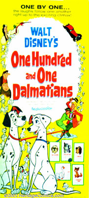 """One Hundred and One Dalmatians (Buena Vista 1961) Lobby Card Set (11""""x14""""), Press Book. Now considered a true..."""