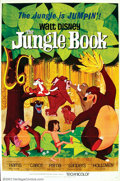 "Movie Posters:Animated, Jungle Book, The (Buena Vista 1967) One Sheet (27"" X 41""), PressBook, Press Kit. Kipling's story of the orphaned Mowgli is ..."