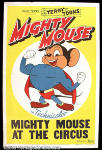 """Mighty Mouse (20th Century Fox, 1943). One Sheet (27"""" X 41"""") Twentieth Century Fox released a stock sheet with..."""