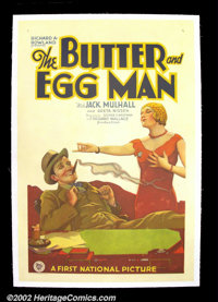 "The Butter and Egg Man (First National, 1928). One Sheet (27""X41"") Splendid comedy about a boy who achieves hi..."