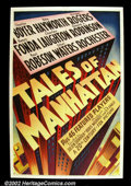 "Movie Posters:Drama, Tales of Manhattan (20th Century Fox, 1942). One Sheet (27"" X 41"") Wonderful stylized graphics on this stone litho poster fr..."