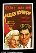 Movie Posters:Romance, Red Dust (MGM, 1932) This pre-code love story was a racy hit for MGM and helped elevate Jean Harlow to star status as the fl...