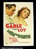 """Movie Posters:Drama, Men In White (MGM, 1934). One Sheet (27""""X41"""") Pretty stone litho portrait of two of MGM's biggest stars adorn this poster. T..."""