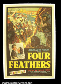 "The Four Feathers (United Artists, 1939). One Sheet (27""X41"") A.E.W. Mason's tale of adventure and the British..."