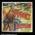 "Movie Posters:War, Sahara (Columbia, 1943). Six Sheet (81"" X 81"") Humphrey Bogart starred in this WWII action adventure of a British American u..."