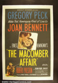 """Movie Posters:Drama, The Macomber Affair (United Artists 1947) One Sheet (27""""X41"""") Gregory Peck stars in this film based upon an Ernest Hemingwa..."""