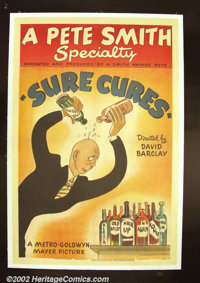 """Sure Cures (MGM 1946) One Sheet (27"""" X 41""""). An amusing look at baldness from one of MGM's best short subjects..."""
