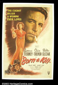 "Born to Kill (RKO, 1946). One Sheet (27""X41"") Lawrence Tierney stars in this film noir where he portrays a vic..."