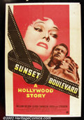 "Sunset Boulevard (Paramount, 1950). One Sheet (27""X41"") One of the most important posters from one of the most..."