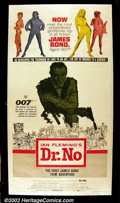 "Movie Posters:Action, Dr. No (United Artists 1962) Three Sheet (41"" X 81"") Large format posters such as this three sheet are extremely rare from t..."