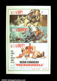 "Thunderball (United Artists, 1965). One Sheet (27""X41"") This, the fourth installment in the James Bond series..."