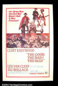 "Movie Posters:Western, The Good, The Bad and The Ugly (United Artists 1968) OneSheet(27""X41"") By far the best film in Leone's ""spaghetti""trilogy,..."