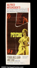 "Movie Posters:Horror, Psycho (Paramount 1960) Insert (14"" X 36"") In this most famous of Hitchock thrillers, Janet Leigh did a bad, bad, thing and..."
