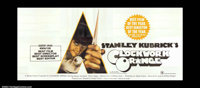 "A Clockwork Orange (1972) A rare 9x20 foot billboard poster, carrying the original ""X"" rating given the film b..."