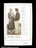 "Movie Posters:Comedy, Annie Hall (United Artists, 1977). One Sheet (27"" X 41""). Woody Allen's finest comedy went on to win the Best Picture of th..."