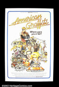"Movie Posters:Comedy, American Graffiti (Universal 1973) One Sheet (27"" X 41""). GeorgeLucas' modern classic gave many of the film's stars their b..."