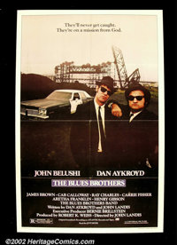 "The Blues Brothers (Universal 1980.) One Sheet (27"" X 41"") The famous John Landis comic tribute to the R&a..."