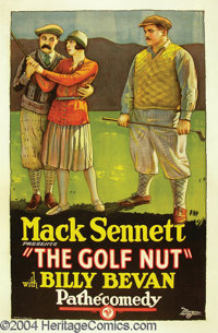 "The Golf Nut, (Pathe' circa Mid-1920's) One Sheet (27""X41"") This poster was released with a Mack Sennett comed..."