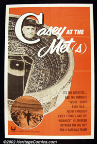 "Casey and The Mets (Universal 1963) One Sheet (27"" X 41"") Casey Stengel and the New York Mets are featured in..."
