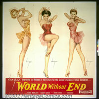 "World Without End (Allied Artists 1956) Six Sheet (81""X81"") Style B. This reworking of H.G. Wells' novel ""..."