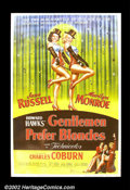"""Movie Posters:Musical, Gentlemen Prefer Blondes (20th Century Fox 1953) 40""""X 60"""". This very rare and unique poster is the far superior image from t..."""