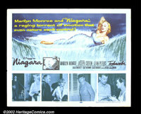 """Niagara (20th Century Fox 1953) Half Sheet(22"""" X 28""""). Marilyn Monroe is depicted in a provocative pose, lying..."""