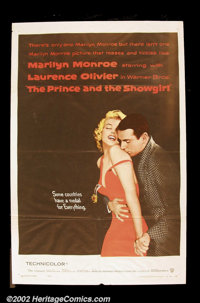 "Prince and the Showgirl (Warner Brothers, 1957). One Sheet (27"" X 41"") This wonderful Monroe and Olivier image..."