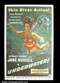 """Movie Posters:Drama, Underwater! (RKO, 1955). One Sheet (27""""X41"""") Sold as an underwater adventure of treasure seeking, this poster makes it known..."""