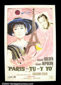 Movie Posters:Comedy, Paris When it Sizzles (Paramount 1972 reissue) Italian One Sheet.Audrey Hepburn, as William Holden's muse, inspires the wri...