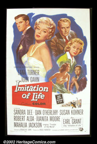 """Imitation of Life (Universal, 1959). One Sheet (27"""" X 41"""") This remake of the 1934 adaptation of the Fannie Hu..."""