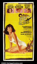 """Movie Posters:Drama, Suddenly Last Summer (Columbia 1960) Three Sheet (41"""" X 81"""")Elizabeth Taylor stars in this steamy and disturbing adaptation ..."""
