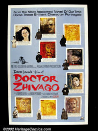 "Docter Zhivago (MGM 1965) One Sheet (27"" X 41"") Style C. Portraits by Potieski of all the principal characters..."