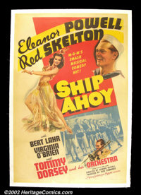 """Ship Ahoy! (MGM, 1942) One Sheet (27"""" X41""""). Hilarious comedy featuring Red Skelton looking for a Nazi saboteu..."""