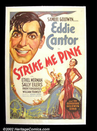 "Strike Me Pink (United Artists 1936) One Sheet (27""X41"") Eddie Cantor and Ethel Merman star in this comedy cen..."