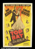 """Movie Posters:Musical, Top Hat (RKO R-1953) One Sheet (27""""X41"""") Fred Astaire and Ginger Rogers were at the """"top"""" of their form in this classic 1935..."""