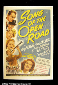 """Song of the Open Road (United Artists 1944) One Sheet (27""""X41"""") Child star Jane Powell runs away to see what i..."""