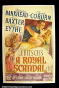"Movie Posters:Comedy, A Royal Scandal (20th Century Fox, 1945). One Sheet (27""X41) This is a remake of Lubitsch's 1924 ""Forbidden Paradise"". Lubit..."