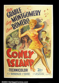 "Coney Island (20th Century Fox 1943) One Sheet (27""X41"") This is a beautiful stone lithography as only Fox was..."