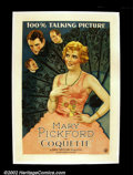"""Movie Posters:Drama, Coquette (United Artists 1929) One Sheet (27""""X41"""") Mary Pickford won an Oscar for her role in this her first """"talkie"""" about ..."""